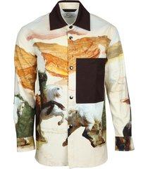 osmar horse-print shirt