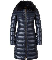 fur quilted coat