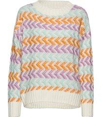 adnagz pullover so20 stickad tröja multi/mönstrad gestuz