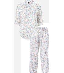 pyjamas lrl 3/4 roll tab slv his shirt capri pj