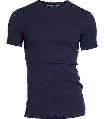 garage basis t-shirt ronde hals semi bodyfit blauw