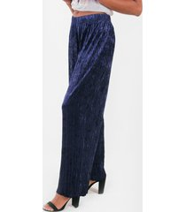 pantalon palazzo velvet azul marino night concept