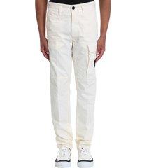 stone island pants in white cotton