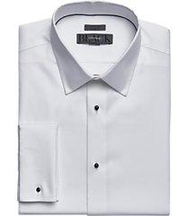black by vera wang white slim fit corded stripe tuxedo formal shirt