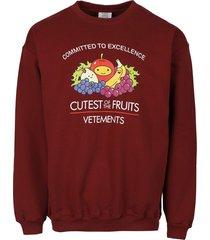 cutest of the fruits sweatshirt bordeaux