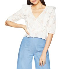 bcbgeneration floral-print ruffle top