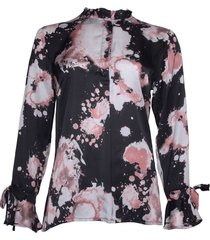 20 to 20to 010black blouse 20t089 zwart