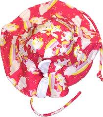 chapeu com proteção solar ecotrends unicornio rosa