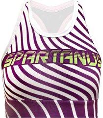 top de compressão spartanus fightwear green purple branco