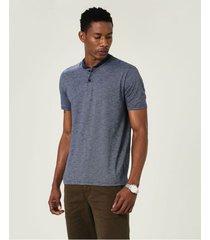 camiseta tradicional fio a fio malwee azul escuro - pp