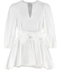 parosh belted poplin blouse
