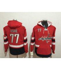washington capitals ovechkin backstrom oshie hockey hooded sweatshirt jersey