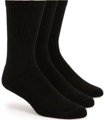men's nordstrom 3-pack athletic socks, size regular - black