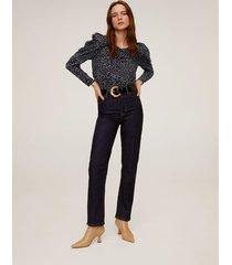 blouse met schoudervullingen