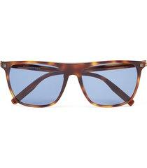 ermenegildo zegna rectangular-frame sunglasses - brown