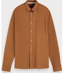 scotch & soda katoenen twill overhemd | regular fit