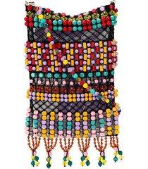 emilio pucci pepita bead-embroidered crossbody bag