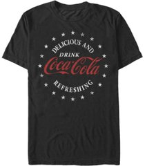 coca-cola men's classic delicious and refreshing short sleeve t-shirt