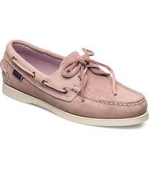 docksides portland suede w loafers låga skor rosa sebago