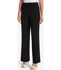 tahari asl pebble crepe wide-leg pants
