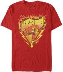 fifth sun dc men's the flash retro fast as lightning logo short sleeve t-shirt
