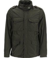 aspesi mini field jacket in taffeta