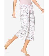 hue martini-print cotton capri pajama pants