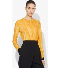 proenza schouler dipped tie dye long sleeve t-shirt orange/blue m