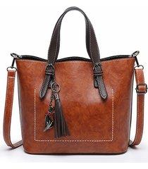 borsa a tracolla per il tempo libero vintage in ecopelle tinta unita da donna borsa