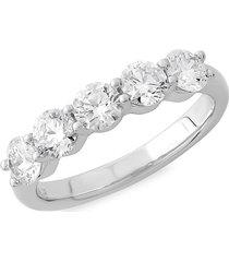 badgley mischka women's 14k white gold & 3 tcw lab-gown diamond anniversary band/size 7 - size 7