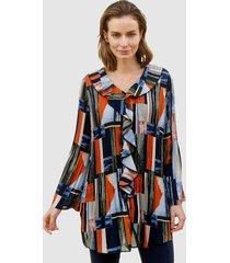 blouse paola marine::mosgroen::oranje