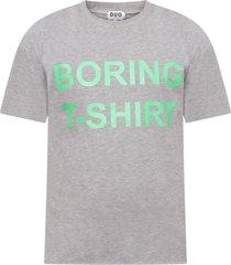 natasha zinko grey boy t-shirt with neon green print