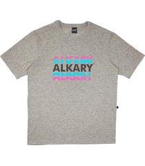 camiseta alkary logotipia cinza - kanui
