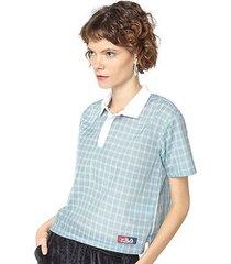 camisa polo fila grid - feminino
