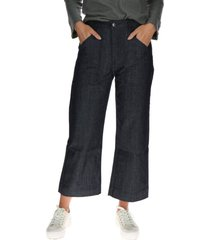 pantalon mujer palazzo jeans azul