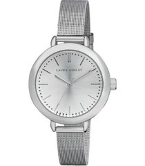 laura ashley ladies' silver mesh watch