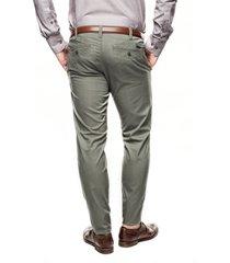 spodnie davos 214 zielony slim fit
