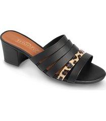 zapato tipo sandalia print -negro