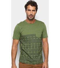 camiseta treebo étnico masculina