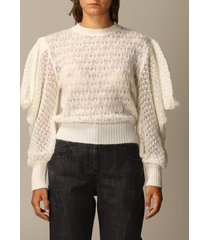 alberta ferretti sweater wide puff sleeve mohair