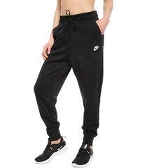 pantalón de buzo nike w nsw tch flc pant negro - calce regular