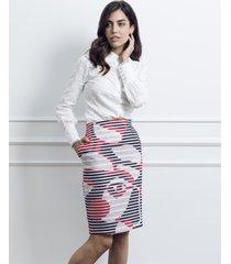 spódnica ołówkowa tweedowa