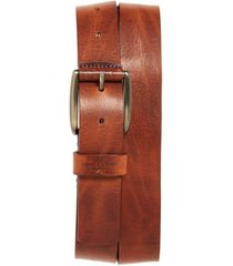 men's ted baker london jean leather belt, size 34 - tan