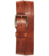 men's ted baker london jean leather belt, size 34 - tan