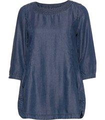 tunic / longblouse blouse lange mouwen blauw taifun