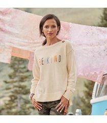 sundance catalog women's be kind sweater in vanilla large
