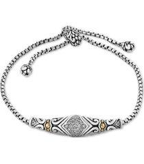 balissima by effy diamond slider bracelet (1/8 ct. t.w.)in sterling silver & 18k gold