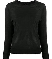 aspesi raglan sleeved sweater - black