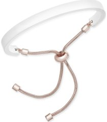 alfani gold-tone & colored curved bar slider bracelet, created for macy's