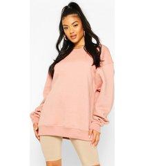 basic oversized sweatshirt, dusty rose